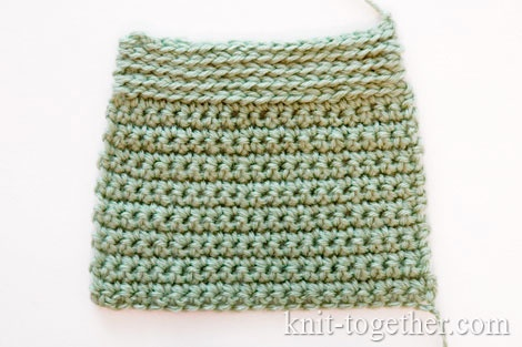 At the top - Slip Stitch, at the bottom - Single Crochet Stitch