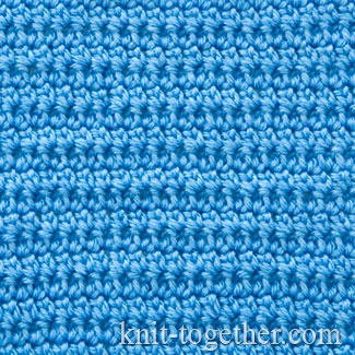 On the photo you see a fabric made of extended single crochet stitches