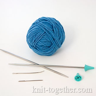 How to choose yarn and needles. Needles. Point protectors (Needle stoppers). Yarn. Yarn needle.