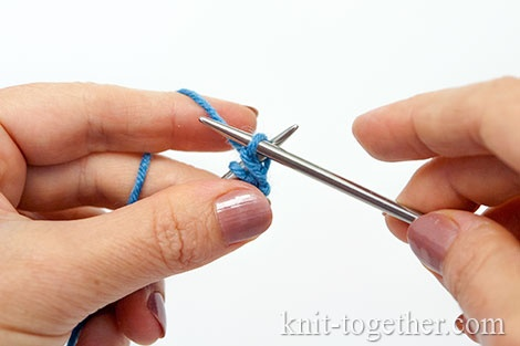 Granny's knit stitch: Continue knitting your sample, but make the side edge in a somewhat different way.