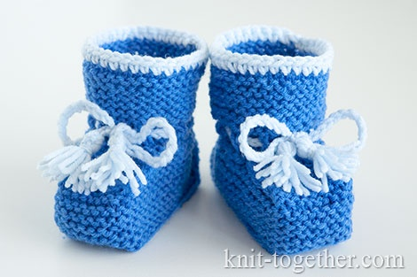 Knitted booties for beginners free pattern
