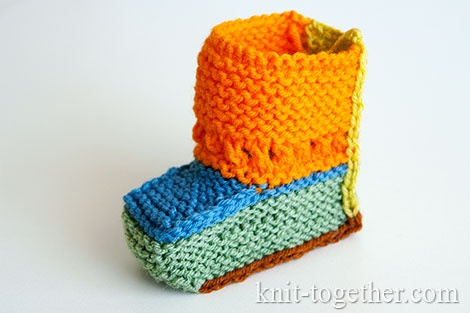 Knitted booties for beginners. Let's look at the parts of the booties