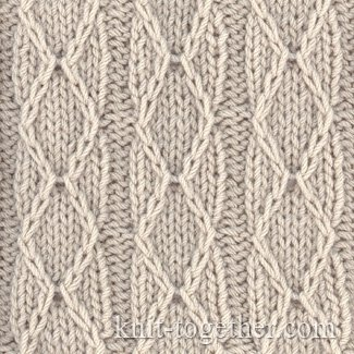 Diamonds and Stripes Stitch Pattern