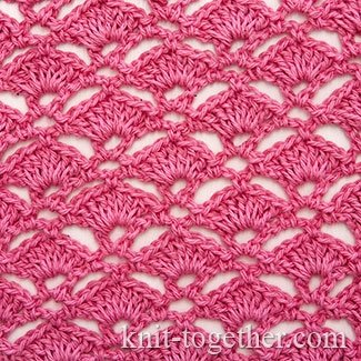 Crochet Shell Stitch as Marine Coral