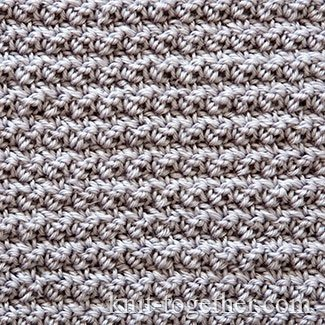 Dense Crochet Stitch Pattern 2