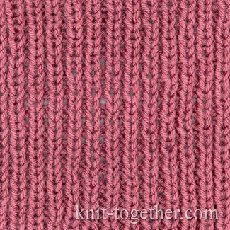 Rib Patterns Knitting : Knit Together Simple Easy Rib 1x1, knitting pattern, Simple Easy Rib 1x1 wi...
