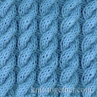 Twisted Thread Knitting And Stitching Show 2017 : Knit Together Classic Cable and Rib Patterns, knitting pattern chart, Cable...