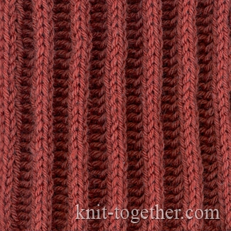 Rib Patterns Knitting : Knit Together Relief Rib 2x2 and knitting pattern chart, Rib Stitches Patte...