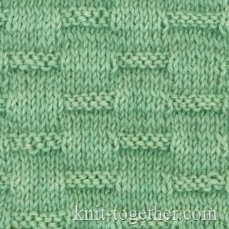 Simple Knitting Stitches : Knit Together Strokes Pattern with needles, knitting pattern chart, Simple ...