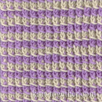 2 Color Knitting Patterns : Knit Together Simple Two-Color Pattern 2, knitting pattern chart, color kni...