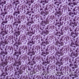 Pattern 1, knitting pattern chart, Eyelet and Lace Stitch Patterns Images - F...