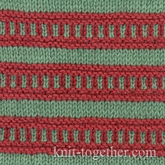Knitting Color Patterns : Knit Together Multi-Color Stitch Pattern 1, Knitting pattern chart, color k...