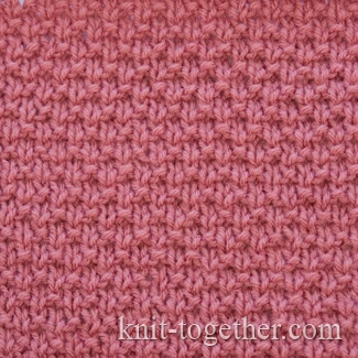 Simple Knitting Stitches : Knit Together Simple Stitch Pattern 2 with needles, knitting pattern chart....