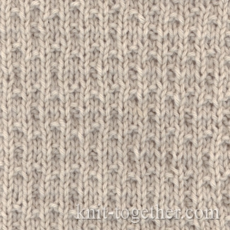 Knit Together Simple Stitch Pattern 3 with needles of knits and purls, knit...