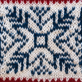 Jacquard Knitting Patterns : Knit Together Norwegian Jacquard Pattern 2, knitting pattern chart, Jacquar...