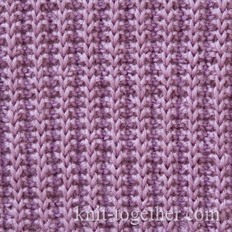 Knit Together Patrontash Rib Pattern with needles and knitting pattern char...