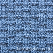 Stitch Knitted Squares Together : Knit Together Squares, Diamonds, Basket Stitch Patterns