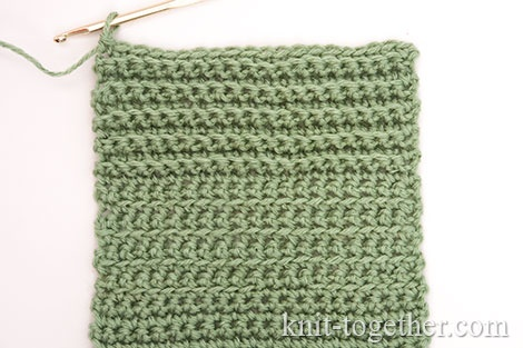 Different ways of crocheting the Single Crochet Stitches