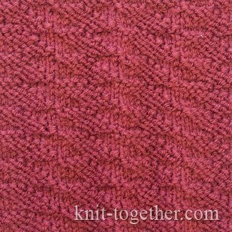 Knit Two Purl Two Pattern : Knit Together Narrow Diamonds Pattern with needles, knitting pattern chart....