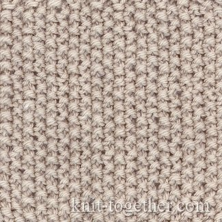 Knitting Double Moss Stitch Instructions : Knit Together Rice (Moss) Stitch Pattern with needles of knits and purls, k...
