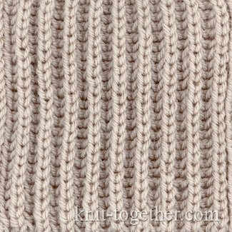 Knitting 4 Stitches Together : Knit Together English Rib and knitting pattern chart, Rib Stitches Patterns...