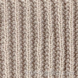 Rib Patterns Knitting : Knit Together French Rib with needles and knitting pattern chart, Rib Stitc...