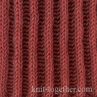 Knit Together Relief Rib 2x2 and knitting pattern chart, Rib Stitches Patte...