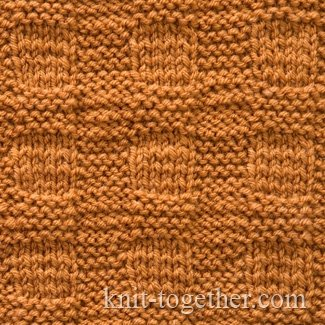 Stitch Knitted Squares Together : Knit Together Plaid Stitch Pattern, knitting pattern chart, Squares, Diamon...