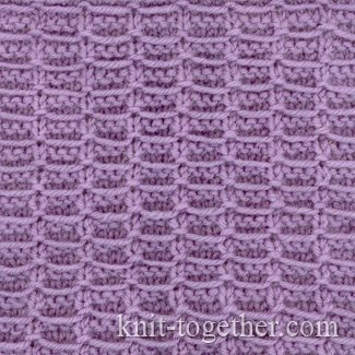 Stitch Knitted Squares Together : Knit Together Square Stitch Pattern 1, knitting pattern chart, Squares, Dia...