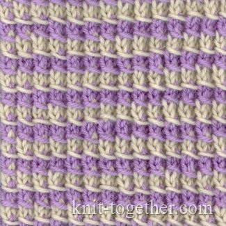 Knit Together Simple Two-Color Pattern 2, knitting pattern chart, color kni...