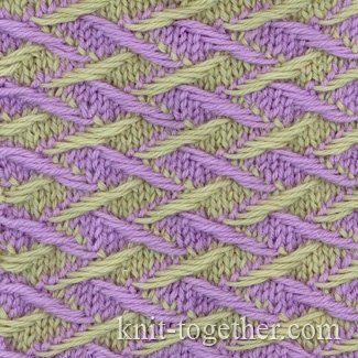 Knit Together Two-Color Pattern 3, knitting pattern chart, color knitting s...