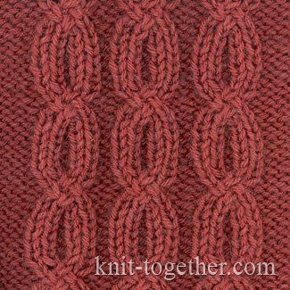 Knitting Stitch Together : Knit Together Chain Pattern, knitting pattern chart, Cable and Twisted Stit...
