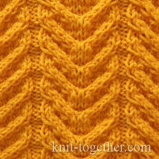 Horn Cable Stitch Pattern