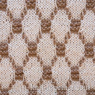 Knit Together Two-Color Diamonds Jacquard Pattern, knitting pattern chart, ...