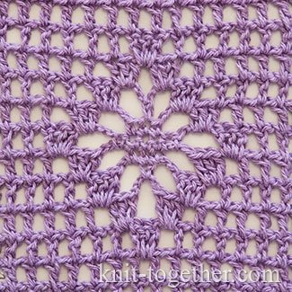 Lacy Rhombus in Filet Crochet