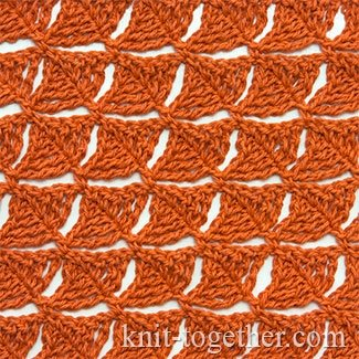"Lacy Crochet Stitch Pattern ""Foliage"""
