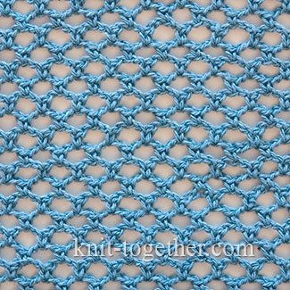 Crochet Stitches Mesh : regular mesh is made with chain stitches and single crochet stitches ...