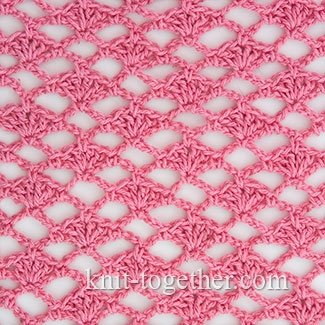 Crochet Shell Stitch and Coral