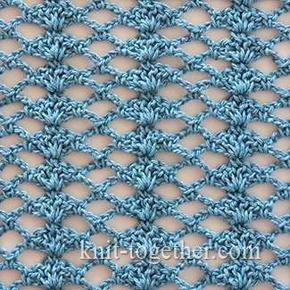 Crochet Shell Stitch and Mesh