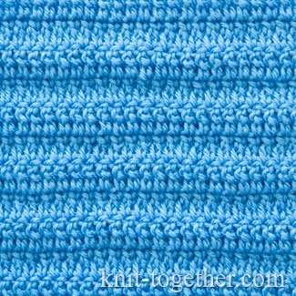 Dense Stitch Pattern with Extended Double Crochet