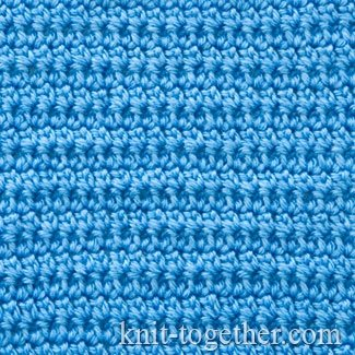 Dense Stitch Pattern with Extended Single Crochet
