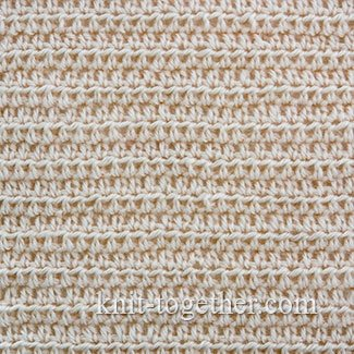 Dense Stitch Pattern with Half Double Crochet