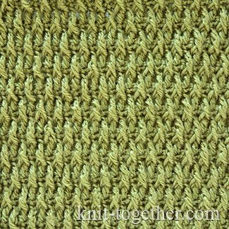 Dense Stitch Pattern of Front Post Treble Crochet