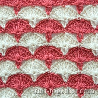 "Multicolor Crochet Stitch Pattern ""Carnations"""