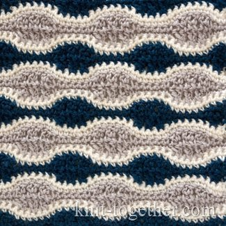 "Crochet Stitch Pattern ""Contrast Waves"""