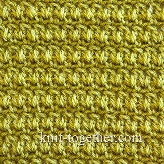 Knitting 3 Stitches Together : Knit Together Dense Crochet Stitch Pattern 3