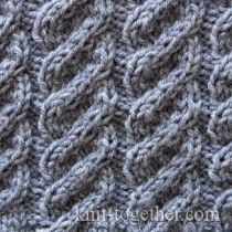 Knitting Stitch Together : Knit Together Cable and Twisted Stitch Patterns